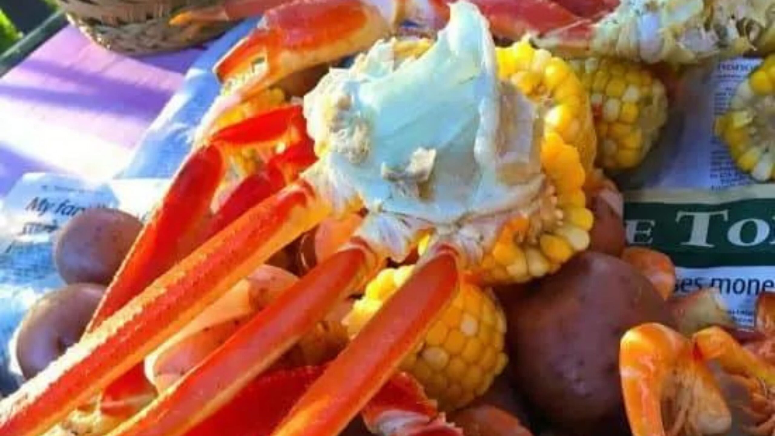 Seafood boil with Fisherman's Market crab and prawns