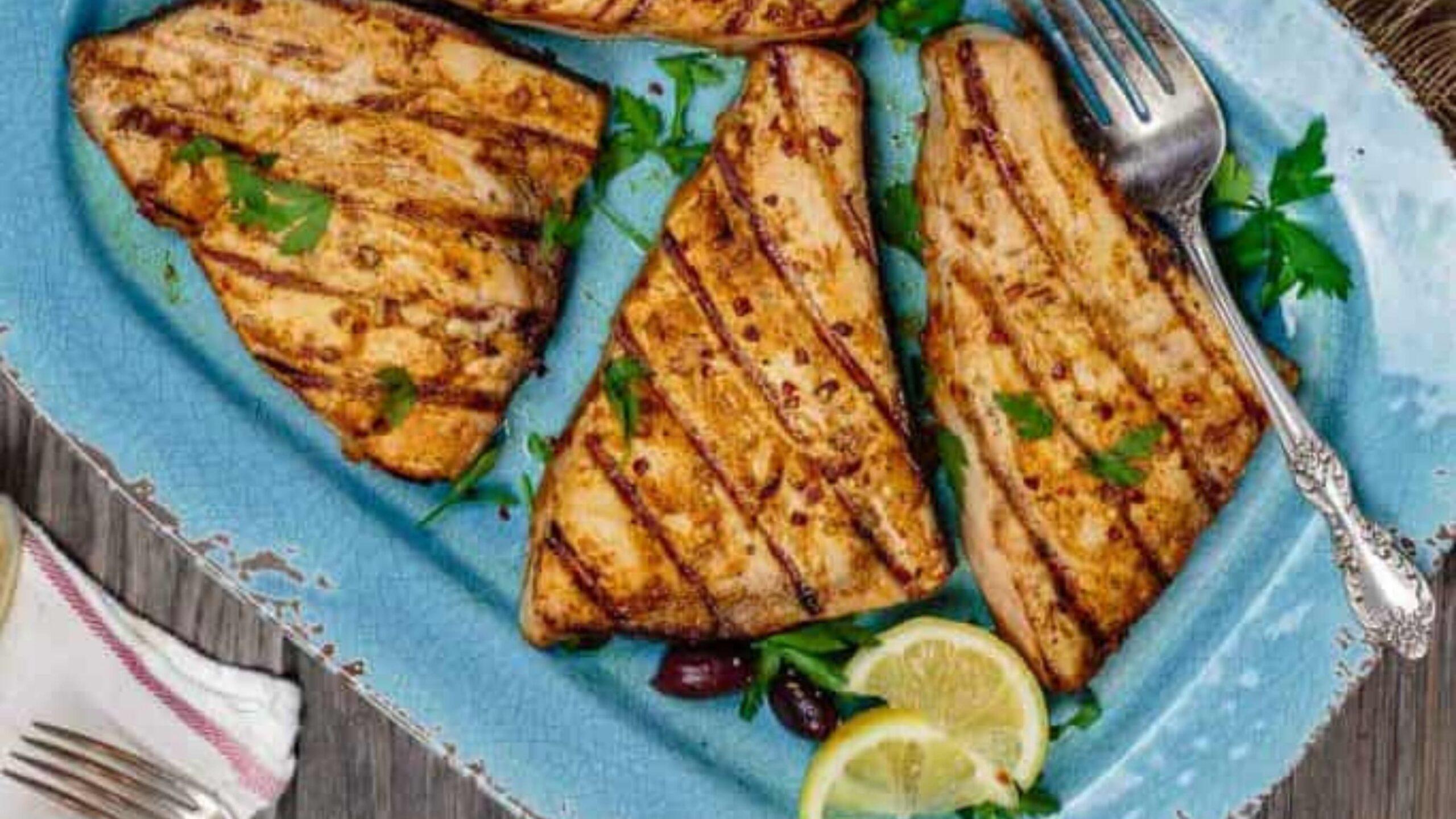 Grilled swordfish recipe